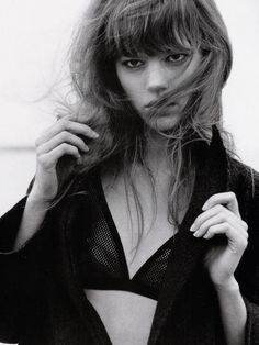 """""""Is it Better to be Alone?"""" Freja Beha Erichsen photographed by Bruce Weber for Vogue Italia, November 2005."""