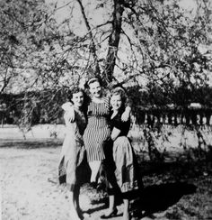 Eva Braun (right) with her sister Gretl (left) and their mother Franziska. This image was included in pages of Eva Braun's photo albums and cataloged as such when I viewed and photographed it in the National Archives. (via gentleman-blackbird)