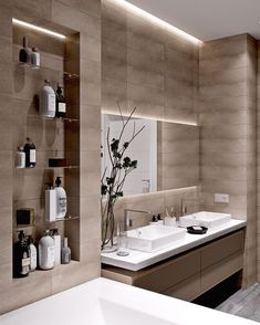 Moderne Badezimmer-Design-Ideen, zum sich zu inspirieren , Modern Bathroom Design Ideas To Inspire For example, if you need a modern bathroom vanity set, measure the available space first. The modern bathr. Bathroom Design Luxury, Modern Bathroom Design, Bathroom Designs, Bath Design, Tile Design, Small Elegant Bathroom, Toilet And Bathroom Design, Modern Luxury Bedroom, Parisian Bathroom