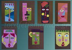 Πρόσωπα από χαρτόκουτα. - To Cafe tis mamas Diy Crafts, Games, Logos, Art, Art Background, Kunst, Diy Home Crafts, Toys, Logo