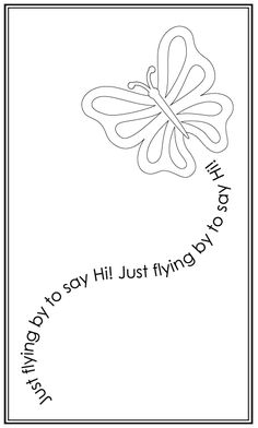 Free Digital Stamps. Could also use Zentangle format on butterfly...