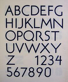 90a. Flaxman alphabet for New Scotland Yard, drawn 1967. [EWC]