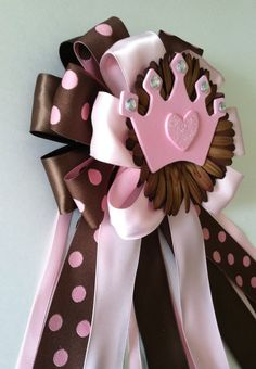 Brown and Pink Princess Crown Baby Shower by littlecreationz, $20.00