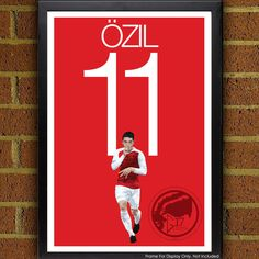 Ozil Arsenal Football -  Soccer Poster, print, art, home decor, wall decor, german poster, world cup, arsenal fc by Graphics17 on Etsy
