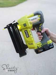 Ryobi AirStrike Battery Nailer/cordless... Just about the coolest tool ever.