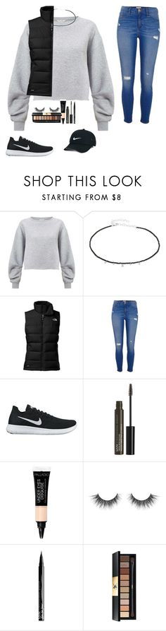 """""""Untitled #75"""" by morg044 ❤ liked on Polyvore featuring Miss Selfridge, Meira T, The North Face, River Island, NIKE, NYX and Yves Saint Laurent"""