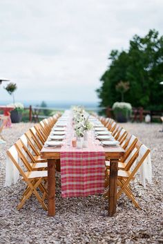 30 Rustic Barbecue BBQ Wedding Ideas ❤ rustic barbecue bbq wedding reception with a wooden table and a checkered red tablecloth ellie snow via instagram ❤ See more: http://www.weddingforward.com/rustic-barbecue-bbq-wedding/ #wedding #bride #rusticwedding #barbequewedding