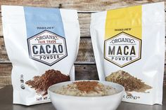 Our 15 favorite healthy Trader Joe's products to help make healthy eating easier: Organic Cacao and Organic Maca Powders | Cool Mom Eats
