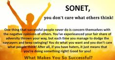 What Makes You So Successful?