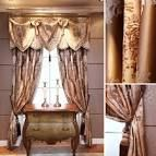 Luxury Blinds And Curtains - They were used to just serve their function -- hang drapes. Curtain rods tend to be much Swags And Tails, Luxury Curtains, Made To Measure Curtains, Beautiful Interiors, Curtain Rods, Drapery, Blinds, House, Image