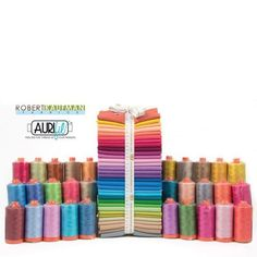 #Aurifil and @robertkaufman are celebrating 30 years of Kona Cotton with a fabulous giveaway bundle that includes 32 fat quarters of the NEW Kona colors and 30 spools of 50wt Aurifil thread!
