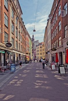 This is part of the one and a half miles of shopping street (Strøget) in the city. Odense, Aalborg, Aarhus, Copenhagen Christmas Market, Copenhagen Denmark, Copenhagen City, Copenhagen Travel, Capital Of Denmark, Travel Around The World