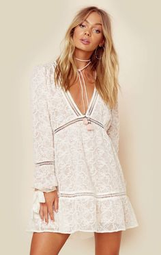 For Love And Lemons Clothing Dresses White Dresses Sweet Disposition Swing Dress Boho Outfits, Fashion Outfits, Fashion 2018, Dress Fashion, Boho Dress, Lace Dress, Lemon Clothing, California Outfits, Casual Dresses