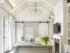 coastal interior, house of turquoise, pastel color, horizontal wall planking, pale blue walls, guest house, florida interior design, vero beach style, cute & co., cute and company