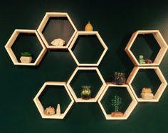 Items similar to Oxagon shelves Honeycomb Shelves on Etsy