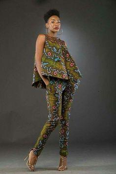 African Ankara Jumpsuit Designs Here we accept Ankara Jumpsuit Designs for this season! We accept anxiously called the New Ankara Jumpsuit designs African Fashion Designers, African Inspired Fashion, African Print Fashion, Africa Fashion, Fashion Prints, African Print Dresses, African Fashion Dresses, African Dress, African Print Pants