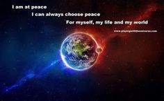 Find that place within yourself where you are loving, kind, balanced and accepting, for that is how you find your peace. Sometimes you can't change the things around you, you can only release your resistance to it and that is how you find your peace. When you give up the resistance, it allows you to be in the flow and that frees up your energy to help you find your peace.