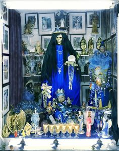 """Angus Fraser, """"Santa Muerte Shrine, Tepito, Mexico City"""" (2012) (© Angus Fraser, courtesy the artist and the Photographers' Gallery)"""