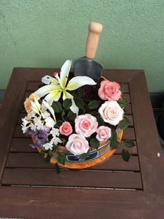 Flower pot cake Flower Pot Cake, Flower Pots, Flowers, Floral Wreath, Wreaths, Cakes, Mom, Decor, Flower Vases