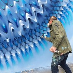 KALEIDOSCOPIC STREET ART -  Miami-based artist Douglas Hoekzema, also known as Hoxxoh, creates incredibly beautiful kaleidoscopic murals. By layering different colored continuous rings, he can turn a plain wall into a hypnotizing portal-looking mural that looks like you could be sucked in if you stand too close!