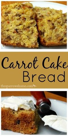 Chunky, fruity and nutty. A delicious recipe for carrot cake bread.
