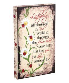 Look what I found on #zulily! Ladybug Love Canvas #zulilyfinds