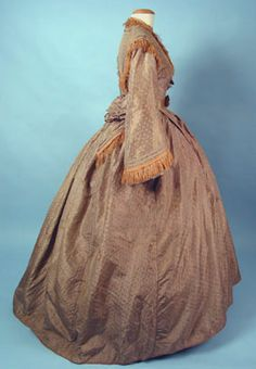 Figured Silk Day Dress, c. 1860 March 25, 2004 - Session 2 - Lot 514 - $400