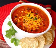 Chicken Enchilada Soup (Crock Pot)