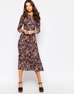 Shop Glamorous Tall Midi Printed Skater Dress at ASOS. Order now with multiple payment and delivery options, including free and unlimited next day delivery (Ts&Cs apply). Tall Women Fashion, 70s Fashion, Womens Fashion, Head To Toe, Skater Dress, Dresser, Asos, Glamour, Prints