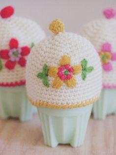 Haakpatroon Eiermutsjes Crochet Egg Cozy, Crochet Hats, Knitting Hats