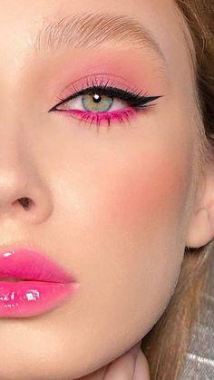 Fancy Makeup, Makeup Eye Looks, Creative Makeup Looks, Cat Eye Makeup, Soft Makeup, Glam Makeup, Eyeshadow Makeup, Orange Eye Makeup, Glossy Makeup