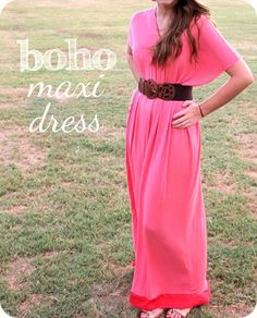 Boho maxi dress - very little sewing - easy! (I'd like to make a shorter version of this!)