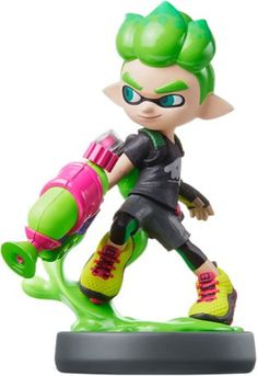 Nintendo Amiibo - Inkling Boy (neon Green)(splatoon Series) Japan IMPORT for sale online Nintendo 3ds, Nintendo Store, Super Nintendo, Figurine Disney, Wii U, Super Mario Party, Bayonetta, Carnival, Anime Characters
