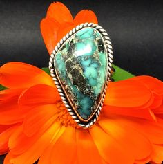 Wow! Stunning turquoise ring found on Etsy!