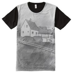 Shop House photo drawing All-Over-Print T-Shirt created by ZierNorShirt. Personalize it with photos & text or purchase as is! Stylish Shirts, Cool T Shirts, S Shirt, Shirt Style, Types Of T Shirts, Draw On Photos, T Shirt Photo, Funny Tshirts, Drawings