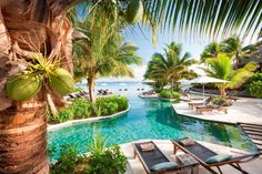 Iles Fidji / The Horizon Edge pool at Likuliku Lagoon Resort on Mamanuca archipelago - Island of Malolo, Fiji Vacation Places, Vacation Destinations, Dream Vacations, Places To Travel, Dream Vacation Spots, Vacation Ideas, Places Around The World, The Places Youll Go, Places To See