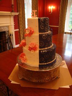 """""""Half and half"""" cake for twins"""