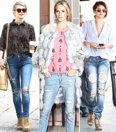 15 Tricks To Looking Pulled Together In Ripped Jeans via @WhoWhatWear