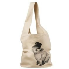 Fancy Rabbit  Sling Tote Bag by Deadworry on Etsy, $30.00