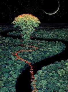 Hirō Isono - The Mana Tree [670 × 898]