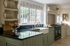 dark modern country kitchen. Modern Country Style  Kitchen and Colour Scheme Click through for details Look at the blinds They are Peony Sage s Hare fabric in Fudge with Green Cabinets Pinterest