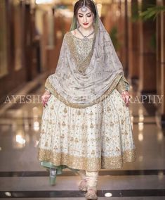 Nikkah bride Source by dress Pakistani Fancy Dresses, Asian Bridal Dresses, Pakistani Fashion Party Wear, Indian Bridal Outfits, Pakistani Wedding Outfits, Pakistani Bridal Dresses, Wedding Dresses For Girls, Pakistani Dress Design, Party Wear Dresses