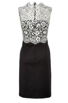 VALENTINO--Lace Bodice Sheath in Black and Ivory--$ 2,145