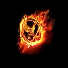Camiseta The Hunger Games (Los juegos del Hambre). Sinsajo de fuego