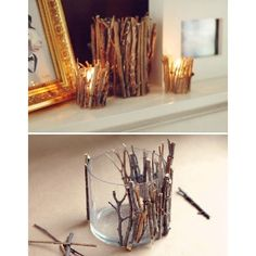 because i'd like to be crafty / tree branch votives found on Polyvore