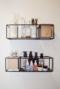 How I Organize My Makeup + Skincare - A Little Leopard care organization How I Organize My Makeup + Skincare – Abigail Nora Makeup Shelves, Makeup Storage, Makeup Drawer, Cosmetic Storage, Care Organization, Vanity Organization, Tiny Bathrooms, Modern Bathrooms, Rest And Relaxation