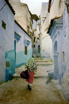 The Maze of Blue City - Chefchaouen, Morocco