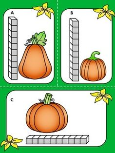 Activity - Measurement Math Center (FREE) *** FREE *** Fall Pumpkin Measurement Math Center >> Measure the height and width of pumpkins using units and record the answer on the worksheet.Pumpkin (disambiguation) Pumpkin is a large orange squash fruit of t Fall Preschool Activities, Preschool Math, Math Classroom, Kindergarten Activities, Teaching Math, Teaching Resources, Teaching Ideas, Classroom Ideas, Kids Math