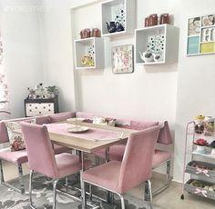 Mutfak, Mutfak köşesi, Mutfak masası, Pembe, Raf