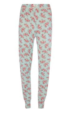 Primark - Mintgrüne Pyjamahose mit Blumenmuster